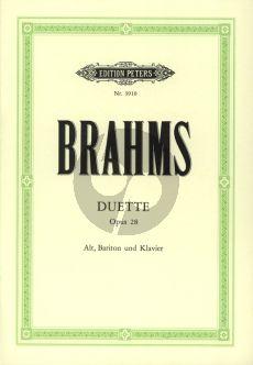 Brahms Duette Op.28 fur Alt-Bariton-Klavier
