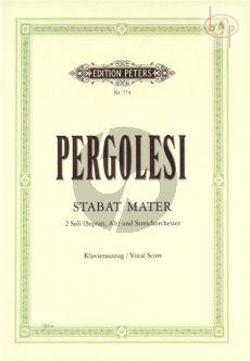 Pergolesi Stabat Mater Sopran-Alt-Streicher-Bc Klavierauszug (Gustav Rösler)
