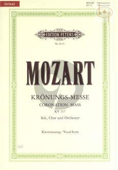 Krönungs-Messe KV 317 C-dur (Soli-Choir-Orch.) (Vocal Score)