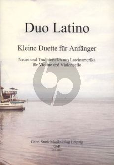 Menacho Duo Latino (Small Duets for Beginners) Violin-Violoncello (2 Scores)