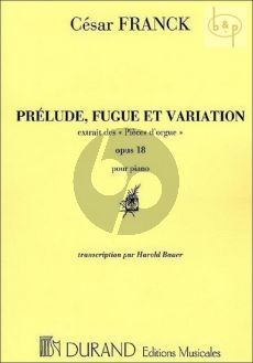 Prelude, Fugue & Variation Op.18 Piano seule