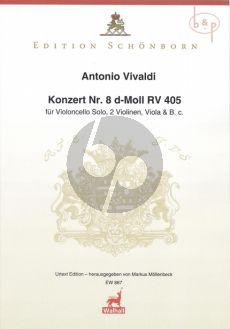 Concerto d-minor No. 8 RV 405 Violoncello-2 Vi.- Va.-Bc