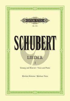 Schubert Lieder Vol. 1 Mittlere Stimme (Nach den ersten Drucken revidiert von Max Friedlaender) (Peters)