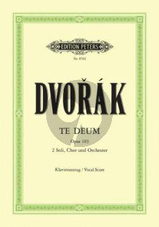 Dvorak Te Deum Op.103 SB soli-SATB-Orch. Vocal Score) (Theill)