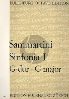 Sammartini Sinfonia No.1 G-Dur Kammerorchester (Partitur) (Norbert Zimpel)