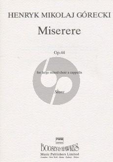 Gorecki Miserere Op.44 SSAATTBB