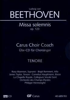 Beethoven Missa Solemnis D-dur Op.123 Tenor Chorstimme CD (Carus Choir Coach)