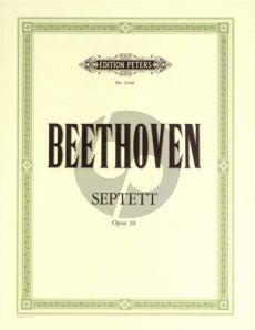 Beethoven Septet E-flat major Op.20 (Vi.-Va.-Hrn[Eb]- Clar.[Bb]-Vc.-Bass) (Parts) (Peters)