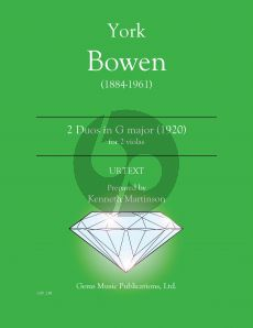 Bowen 2 Duets in G major (1920) 2 Violas (Prepared and Edited by Kenneth Martinson) (Urtext)