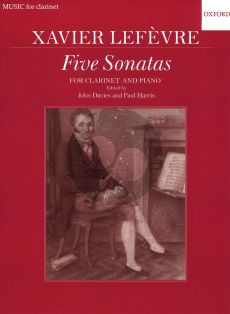 Lefevre 5 Sonatas for Clarinet and Piano (from Methode de Clarinette 1802) (Edited by John Davies and Paul Harris)