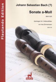 Bach J.S. Sonate a-Moll BWV 1020 fur 2 Altblockflöten (übertragen für 2 Altblockflöten von Ines Zimmermann)