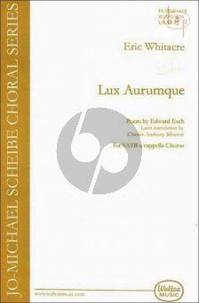 Whitacre Lux Aurumque (Light of Gold) SATB (div.)