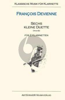 Devienne 6 kleine Duette Opus 82 2 Klarinetten (Spielpartitur)
