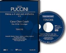Puccini Messa a 4 Voici (Messa di Gloria) Soli-Chor-Orchester Tenor Chorstimme CD (Carus Choir Coach)