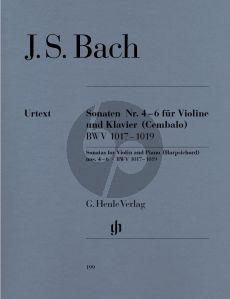 Bach 6 Sonaten Vol.2 BWV 1017 - 1019 Violine - Basso Continuo (Hans Eppstein (Herausgeber), Hans-Martin Theopold (Fingersatz), Karl Röhrig (Fingersatz Violine)) (Henle-Urtext)