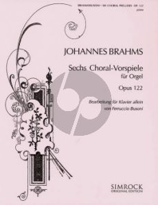 Brahms 6 Chorale Voorspiele Op.122 (Piano Solo) (Busoni)