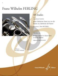 Ferling 48 Etudes Op. 31 Bass Clarinet or Basset-horn (transcr. Mark Wolbers)