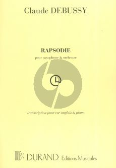 Debussy Rapsodie for Saxophone and Orchestra arranged for English Horn (Cor Anglais) and Piano