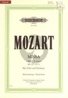 Missa c-minor KV 427 [417a] Soli-Choir-Orchestra Vocal Score