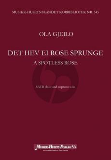 A Spotless Rose SATB-Soprano