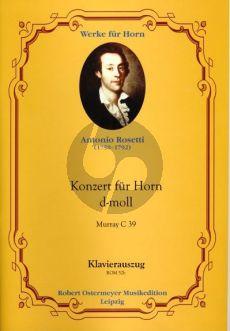 Rosetti Konzert d-moll (Murray C 39) Horn-Orchester Klavierauszug
