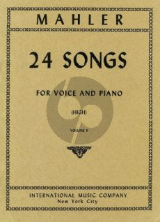Mahler 24 Songs vol.2 (High Voice)