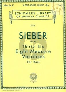36 Eight-Measure Vocalises Opus 97 Bass