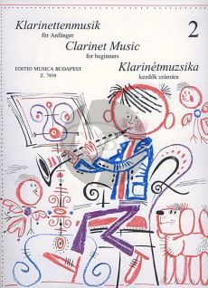 Clarinet-Music for Beginners Vol.2 Clarinet[Bb]-Piano (edited by István Máriássy and János Kuszing)