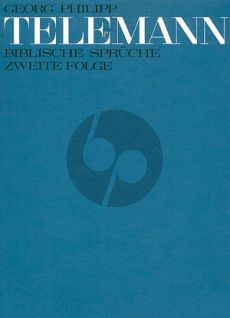 Telemann Biblische Sprüche Vol.2 (SS[B] o SA[B]-Strings ad lib.-Organ) Full Score (Telemann-Archiv)