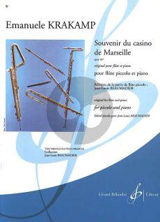 Krakamp Souvenir du Casino de Marseille Opus 187 (Piccolo et Piano) (Jean-Louis Beaumadier)