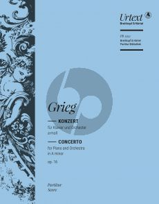Grieg Concerto a-minor Op.16 Piano-Orchestra Full Score (edited by Ernst-Guenter Heinemann)