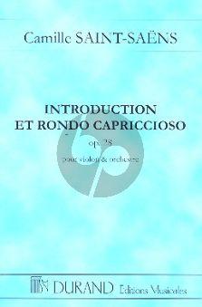 Saint-Saens Introduction & Rondo Capriccioso Op.28 Violin-Orchestra Study Score