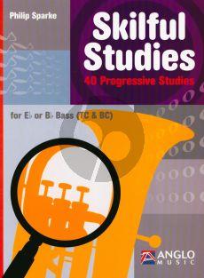 Sparke Skilful Studies 40 Progressive Studies Eb/Bb Bass Treble and Bass Clef Nabestellen