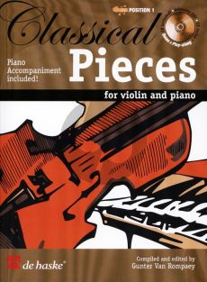 Classical Pieces for Violin and Piano (1.Pos.) (Book with Play-Along-Demo CD) (edited by G van Rompaey)