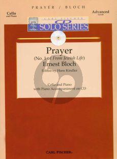 Bloch Prayer (Jewish Life No.1) Violoncello-Piano (Book with Audio Online)