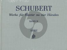Schubert Werke vol.2 Klavier 4 Handen Hardcover / Leinen / Gebonden (Henle-Urtext)
