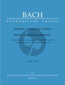 Bach Motetten zweifelhafter Echtheit (Doppel Chor) (Partitur)