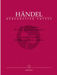Handel Sonatas (Complete) Oboe and Bc (edited by Terence Best) (Barenreiter-Urtext)
