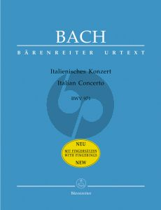 Bach Italian Concerto BWV 971 (Walter Emery) (with fingering)