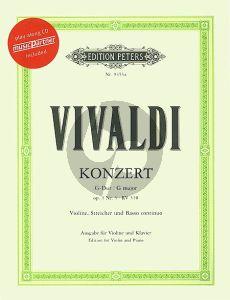 Vivaldi Concerto G-major Op.3 No.3 Violin-Piano (Bk-Cd)