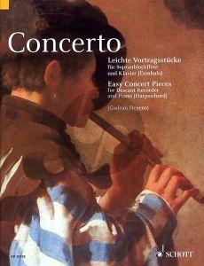 Concerto (Easy Concert Pieces) Descant Recorder-Piano (Book) (edited by Gudrun Heyens)