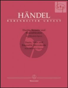 Duets-Trios and Ensemble Movements from Handel's Operas  for (2 - 3 Voices and Bc (ital.)