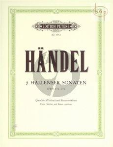 3 Hallenser Sonaten (HWV 374 - 375 - 376) (Flute[Vi.]-Bc[Vc. ad lib.])