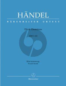 Handel Dixit Dominus HWV 232 (SSATB Soli-SSATB- Str.- Organ) Vocal Score