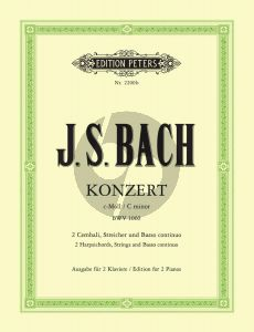 Bach Konzert c-moll BWV 1060 2 Cembali-Streicher-Bc (2 Klaviere Ausgabe) (Conrad Griepenkerl)