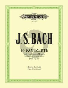 Bach 16 Konzerte nach verschiedenen Meistern BWV 972 - 987 Cembalo (Czerny - Griepenkerl - Roitzsch)