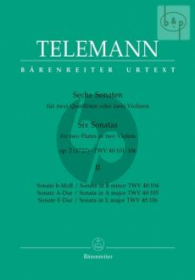 Telemann 6 Sonaten Op.2 Vol.2 (1727) (TWV 40:104-106) 2 Flöten (2 Vi.)