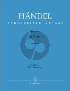 Handel Messias / Messiah HWV 56 Vocal Score (German/English) (Barenreiter-Urtext)