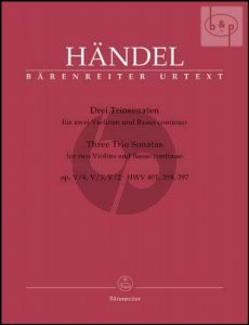 3 Trio Sonatas from Op.5 (HWV 401 - 398 - 397) (2 Violins[2 Fl.]-Bc)