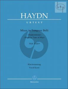 Missa in Tempore Belli (Paukenmesse) (Mass in Time of War) (Hob.XXII:9) (Soli-Choir-Orch.) (Vocal Score)